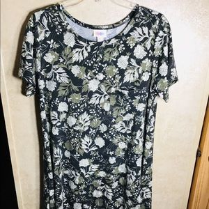 LuLaRoe Carly Dress Floral Pattern Black/White